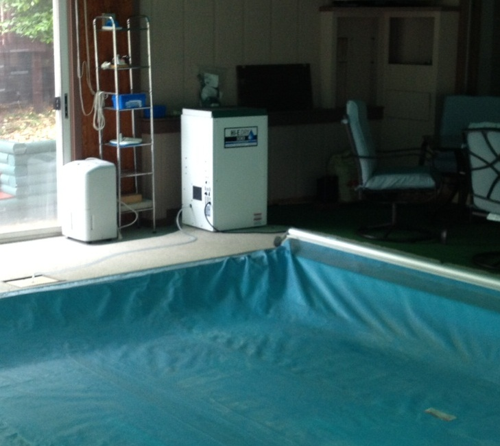 Hi-E-Dry 100 that we sold, working in a pool area
